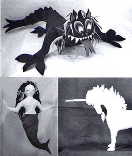 Mermaid, Unicorn & Dragon by Colette Wolff