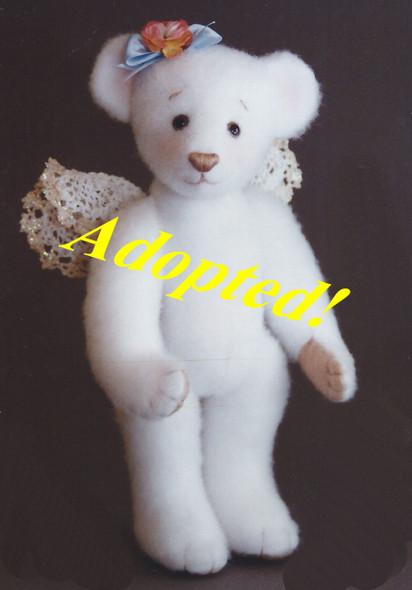 SnowBeary Angel - Original Bear by Kezi Matthews