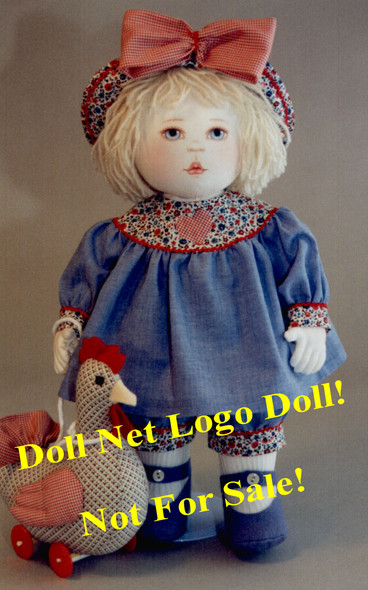 Dilley and Chick - Original Doll and Chick by Kezi Matthews