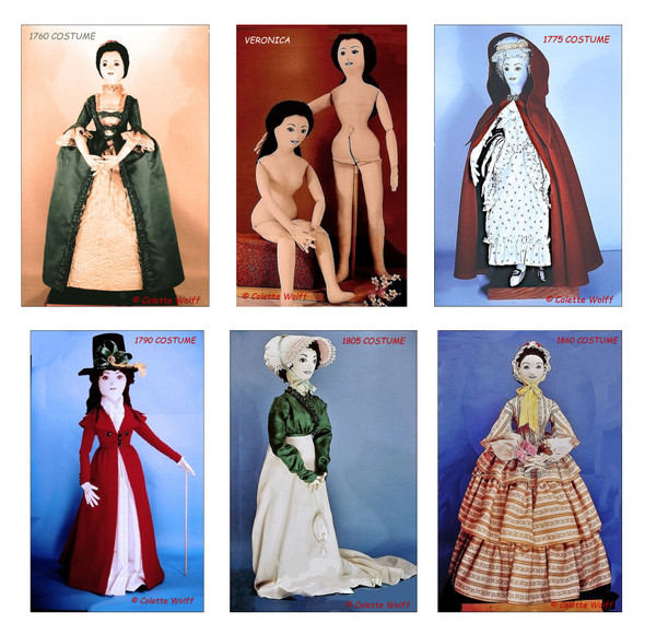 Veronica - Cloth Doll and Costume Pattern Series by Colette Wolff