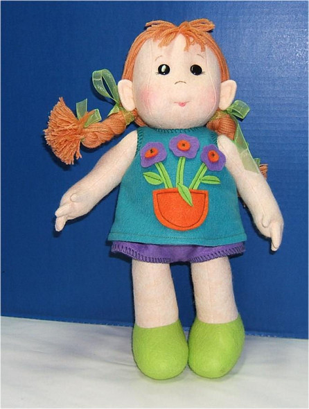 """Emma... 15"""" Wool Felt Original Doll by Judi Ward. Made from one of my BIN E-PATTERNS... She is made from wool felt and dressed in felt...    $75.00...Includes mainland USA shipping."""