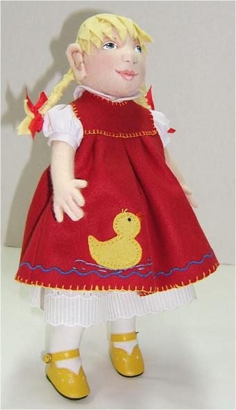 "Ingrid... 13"" OOAK Original Wool Felt Doll by Judi Ward.  Ingrid...13""... Custom made, one of a kind original with a German Doll ""feel""... Wool felt, dressed in wool felt, with wool felt hair too."