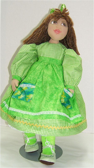"""Little Girl Lori... 21"""" Original Cloth Doll by Judi Ward.   One of the pattern prototypes for the Little Girl Lori Pattern..."""