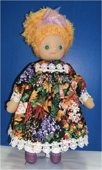 """Original Prototype Doll by Judi Ward.  A sweet Waldorf style doll... About 20"""" tall... Judi made her as a demo for a group wanting to make the Waldorf heads.."""