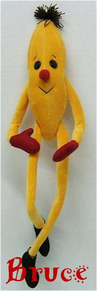 Bruce Cloth Doll Banana Toy for Molly Monkey by Judi Ward.  Soft Rag Doll Pattern