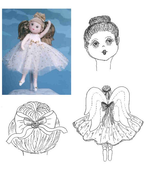 Peaches Ballerina Angel. A sweet little ballerina who will steal your heart. Original Design by Judi Ward!