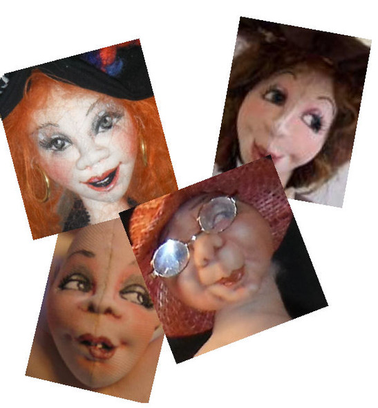 Needle-sculpting, drawing and colouring faces!  A Needle Sculpting Tutorial by Sharon Mitchell