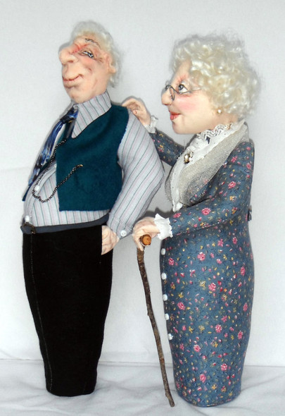 Old Friends keep you sane! A Needle Sculpted Stump Doll by Sharon Mitchell