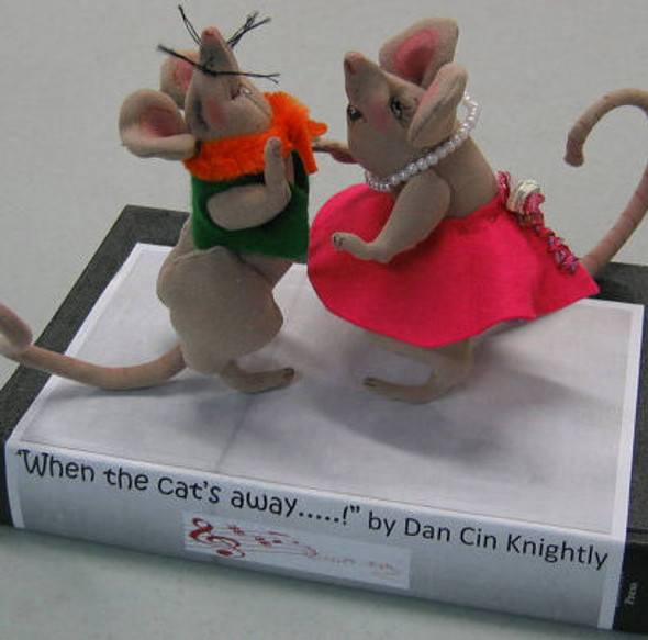 Ragtime Rats, Cloth Animal Doll Pattern by Sharon Mitchell
