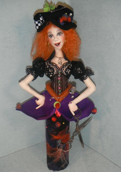 Practical Pindora, Cloth Doll Pattern by Sharon Mitchell