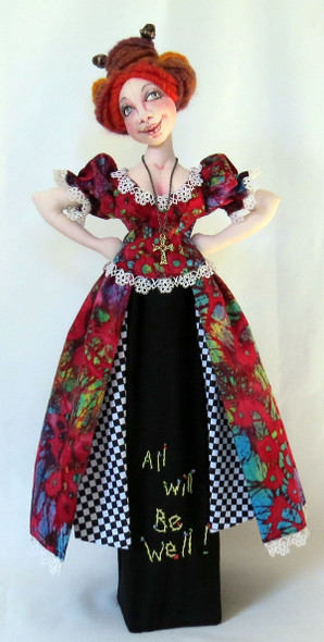 """Santos Doll – """"All will be well!"""" - Cloth Doll Pattern by Sharon Mitchell"""