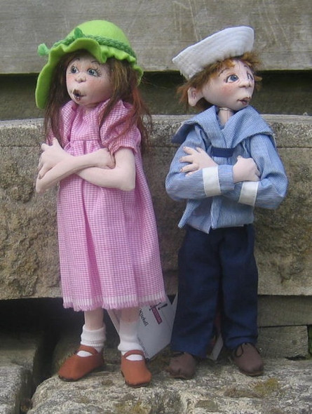Jessie & Jack – Cloth Doll Pattern by Sharon Mitchell