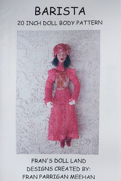 """Barista - 20"""" Cloth Doll Pattern by Fran Parrigan Meehan"""
