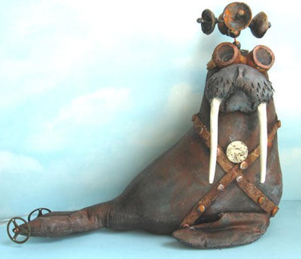 Steampunk Walrus, Cloth Doll Making Pattern