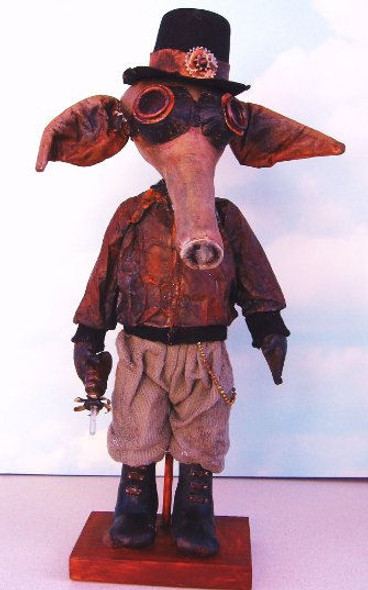 Steampunk Aardvark, Cloth Doll Making Pattern