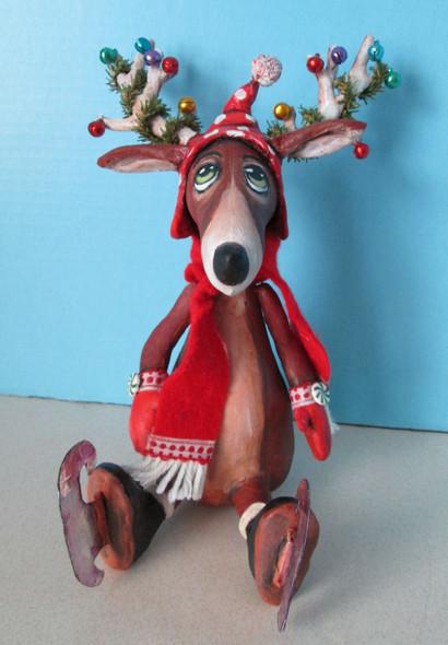 Skating Reindeer, Cloth Doll Making Pattern