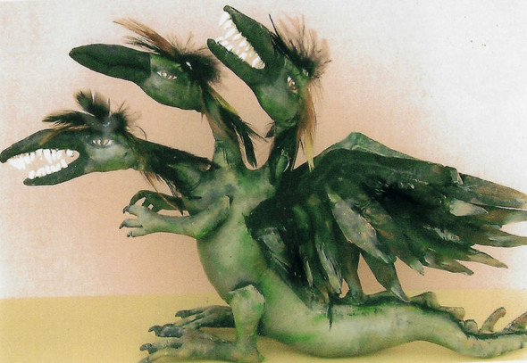 """Cyril – 9"""" by 16"""" Painted Fabric Dragon"""