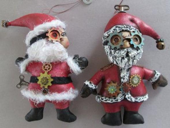 Santa Ornaments - Steampunk Cloth Doll Pattern