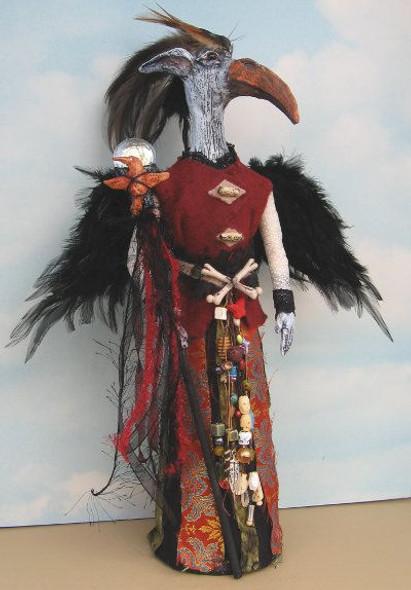 Bone Bird - Cloth Art Doll Pattern