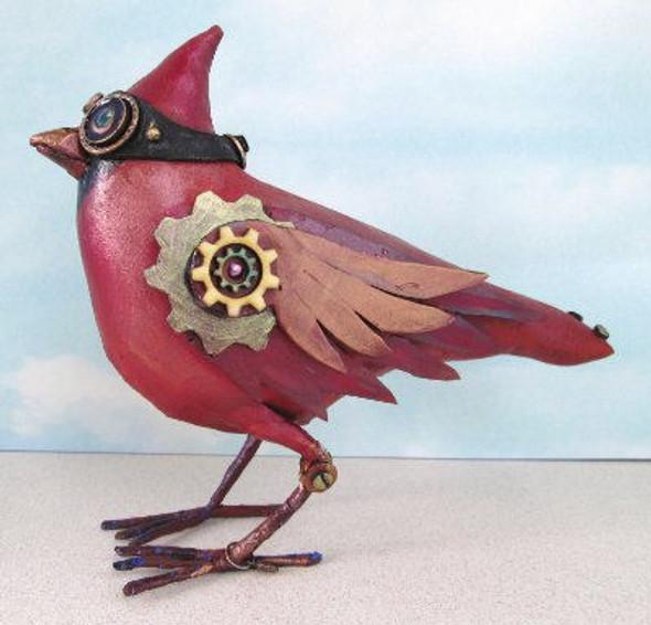 Steampunk Cardinal, Cloth Doll Making Pattern