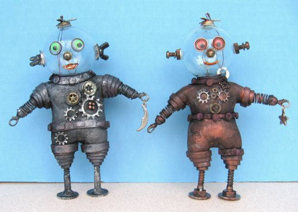 Robot Ornaments, Cloth Doll Making Pattern