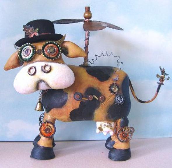 Cowabunga, Steampunk Cow Cloth Doll Making Pattern