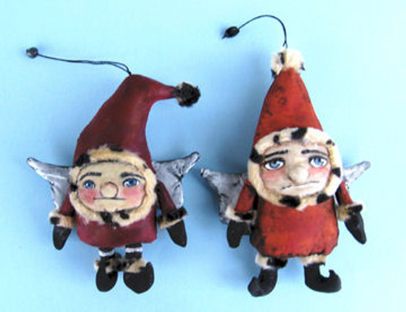 Gnome Ornaments, Cloth Doll Making Pattern