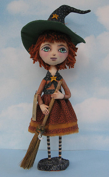 Millie, Witch Cloth Doll Making Pattern