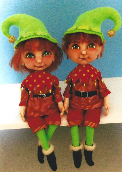 """Pixies – 16"""" Painted Fabric Doll pattern"""