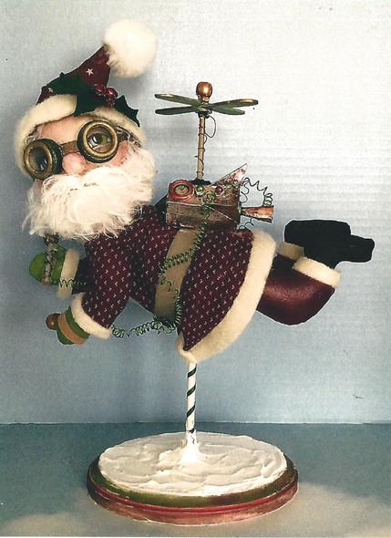 Jet Pack Santa - Steampunk Santa Doll - Cloth Doll Pattern
