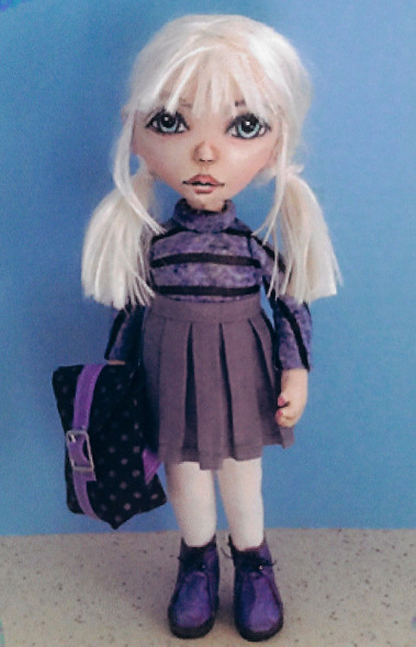 School Girl with Backpack - Cloth Doll Pattern