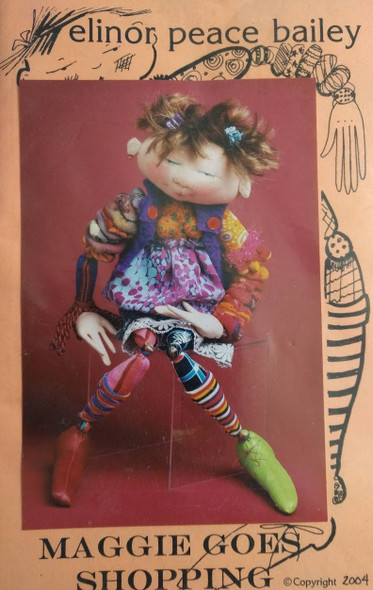 Maggie Goes Shopping - Cloth Doll Pattern