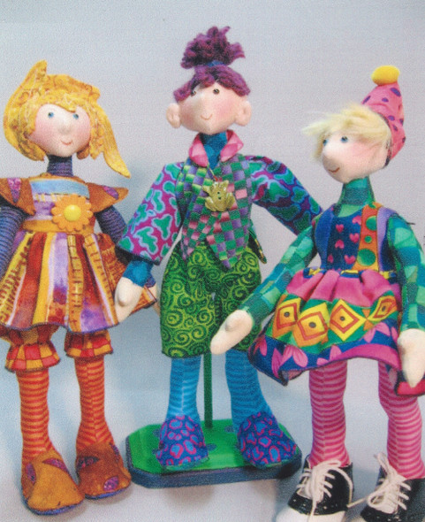 """Snippets  -  11"""" Cloth Doll Sewing Pattern - PDF Download  of Classic Pattern by Julie McCullough"""