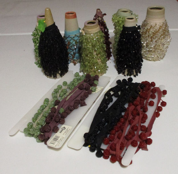 Lots of strung beads on tapes - Judi's Stash Sale