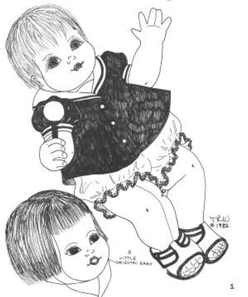 Baby Tara -  Vintage Cloth Doll Sewing Pattern by Judi Ward