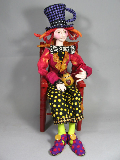 The Mad Hatter - Cloth Doll Sewing Pattern - Paper Mailed Pattern  by Julie McCullough