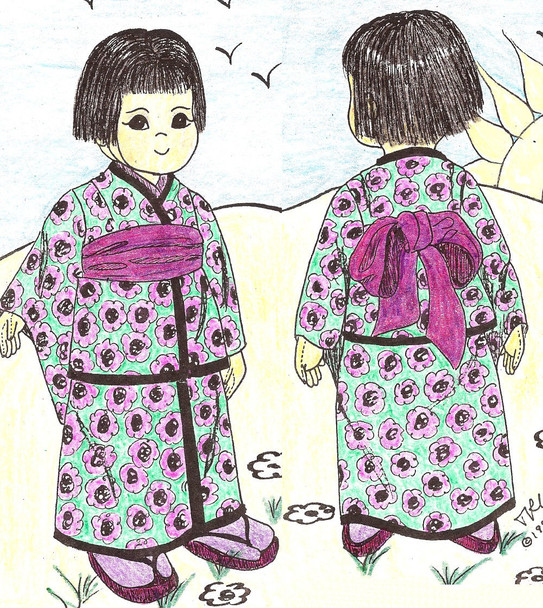 Kim - We're Best Friends -  Vintage Cloth Doll Sewing Pattern by Judi Ward