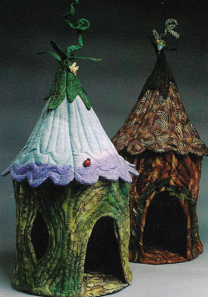 """Fairy Houses - Sewing Pattern for 22"""" houses for favorite dolls or animals - PDF Download Pattern by Julie McCollough of Magic Threads"""