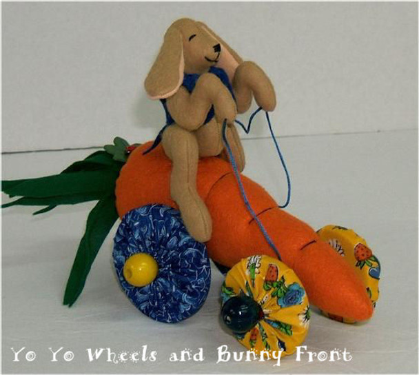 Bunny Speedsters Cloth  Animal and Carrot Patterns by Judi Ward.  Free E-pattern
