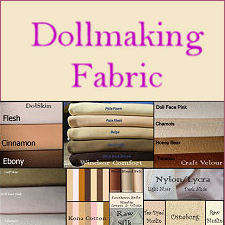 Cloth Doll Making Fabric - Doll Skin (Cotton, Polyester, Knit and More!