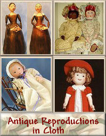 Antique Reproductions in Cloth - Doll Patterns by Judi Ward