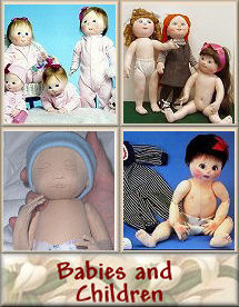 Babies and Children Cloth Doll Patterns by Judi Ward