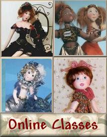Online Cloth Doll Making Classes by Judi Ward