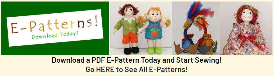 E-Patterns - PDF Instant Download Cloth Doll Patterns by Judi Ward
