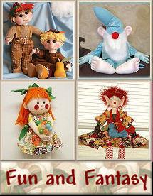 Fun and Fantasy Cloth Doll Patterns by Judi Ward