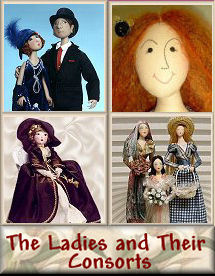Ladies and Their Consorts Cloth Doll Patterns by Judi Ward