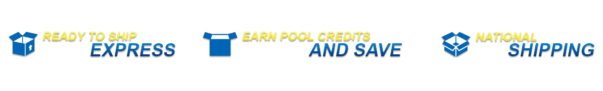 Express shipping of pool equipment and cleaners stocking all major pool brands