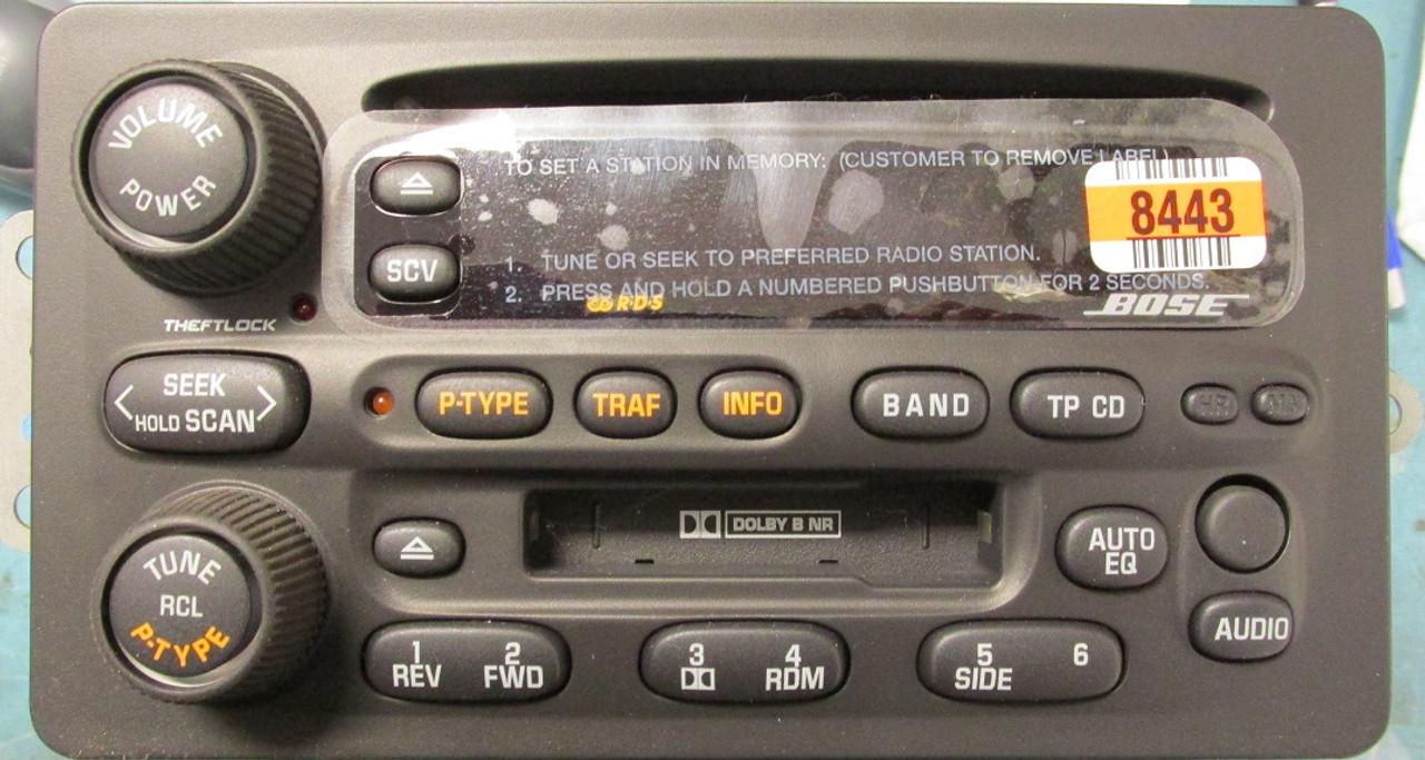 2002 Olds Intrigue Bose Am/Fm Cassette/CD Part # 10318443