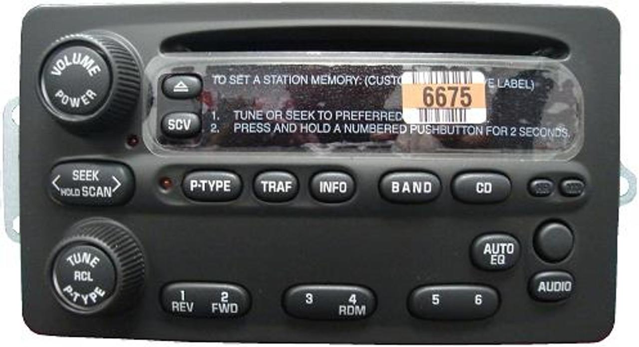 Delco CD6 Radio Faceplate Buttons /& Circuit Board