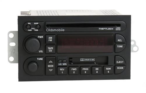 1996-2000 oldsmobile achieva, alero, aurora, cutlass, eighty eight, ninety  eight, intrigue, and bravada cassette/cd player 16213343